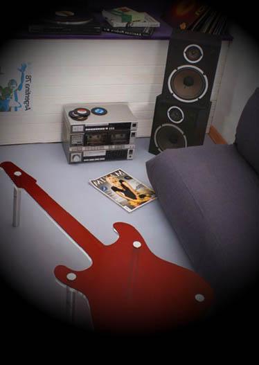 decoracao rock para quarto