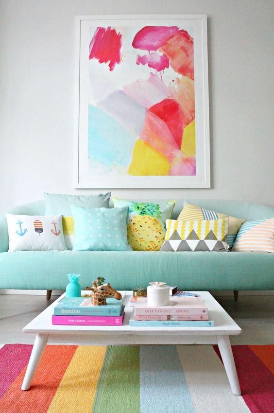 decoracao sala cor