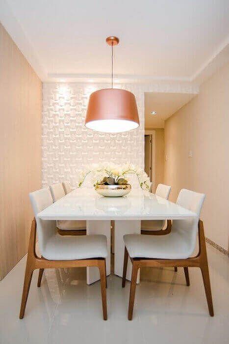 decoracao sala jantar mesa branca