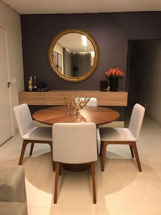 decoracao sala jantar mesa madeira