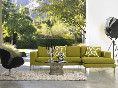 decoracao sala verde moderna