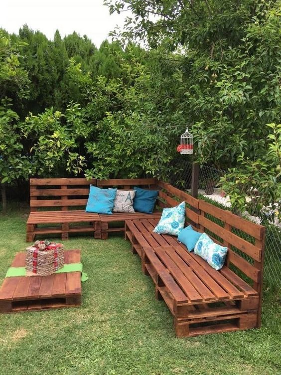 decoracao sofa jardim