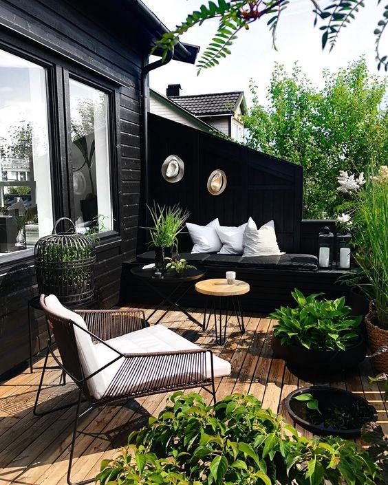 decoracao terraco apartamento madeira
