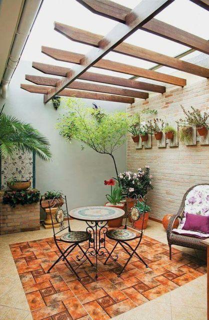 decoracao terraco simples
