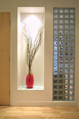 decoracao tijolo vidro nicho