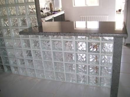 decoracao tijolos vidro cozinha