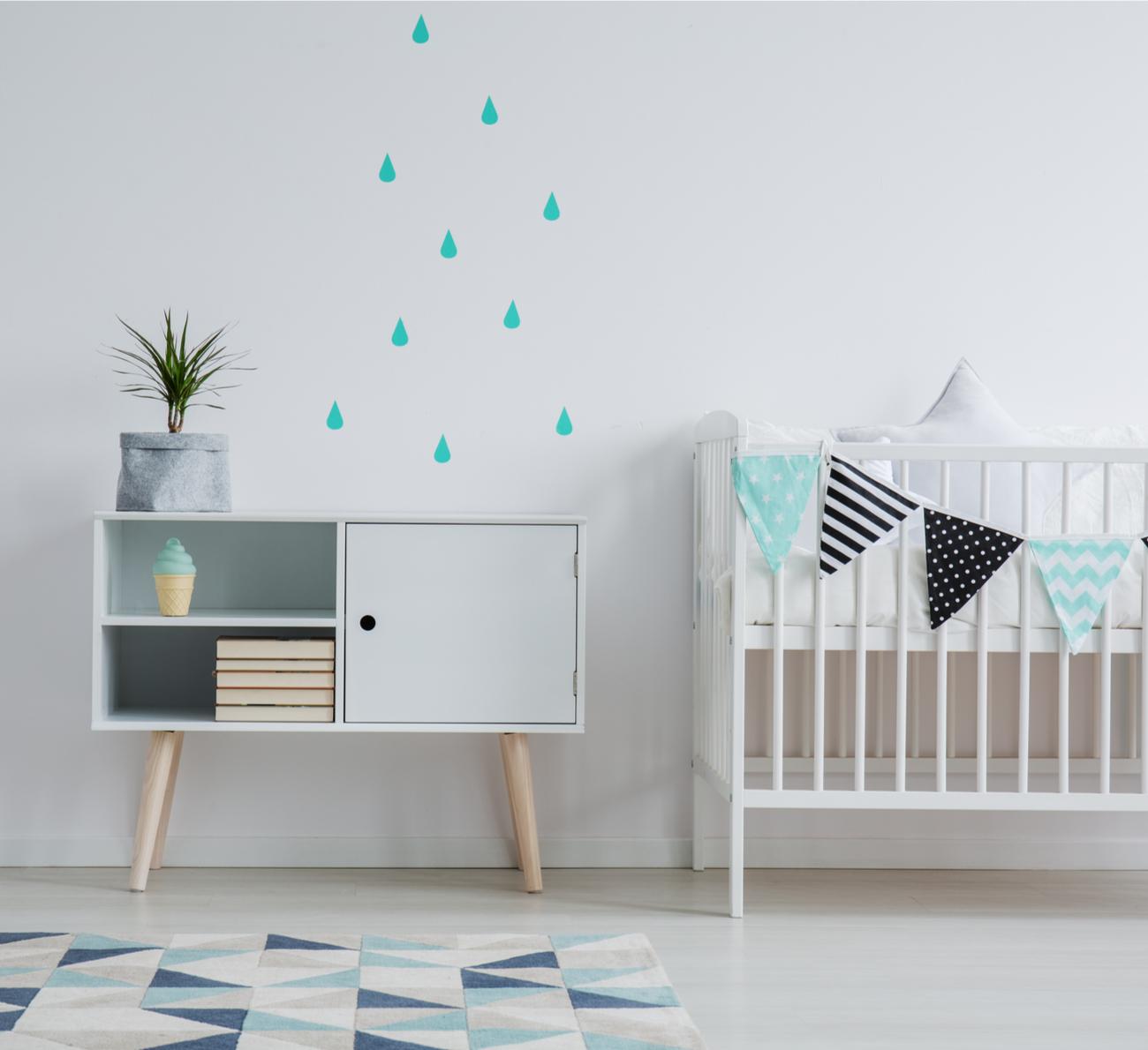 decoraco quarto bebe minimalista azul
