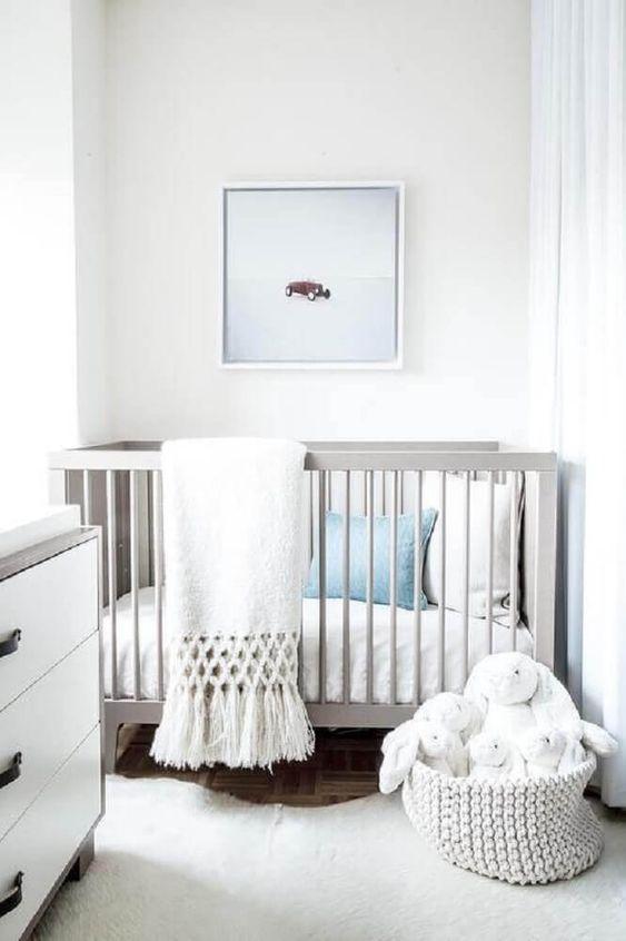 decoraco quarto bebe minimalista branco