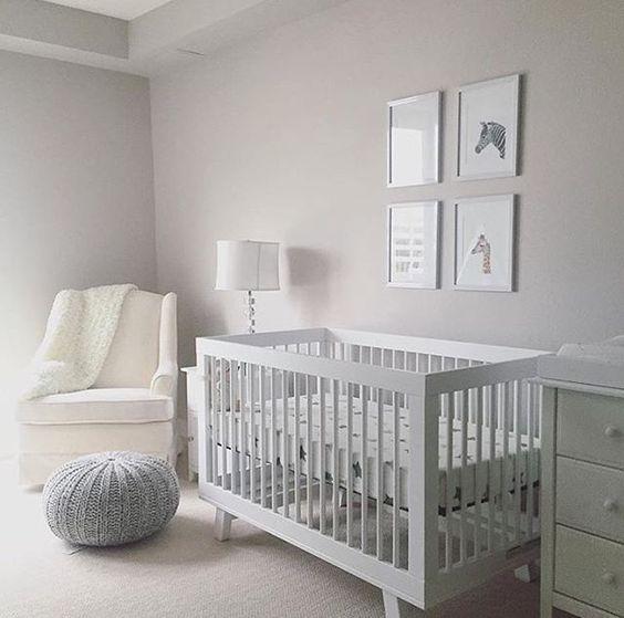decoraco quarto bebe minimalista cinza