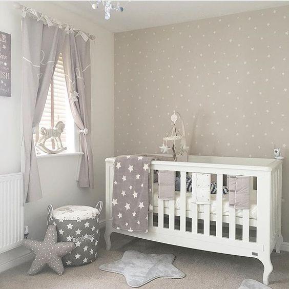 decoraco quarto bebe minimalista estrelas