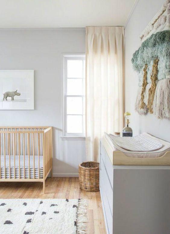 decoraco quarto bebe minimalista madeira