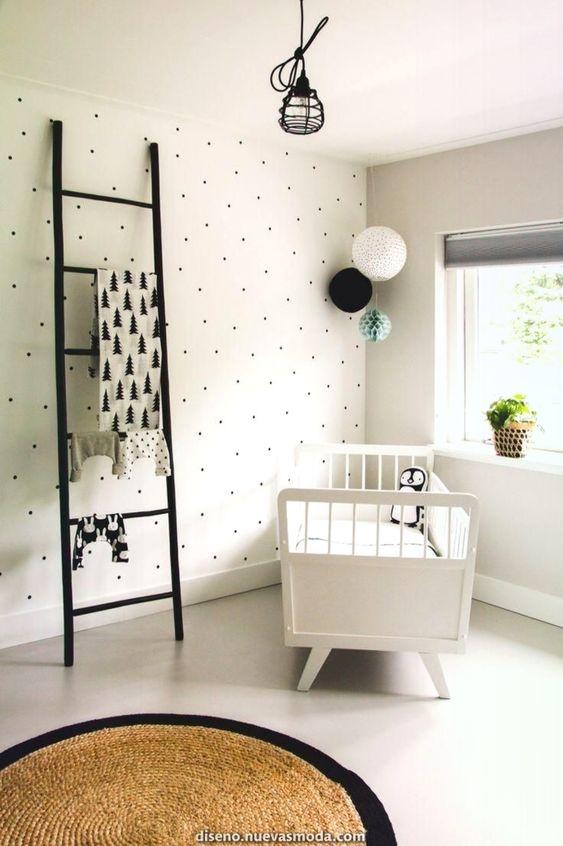 decoraco quarto bebe minimalista preto