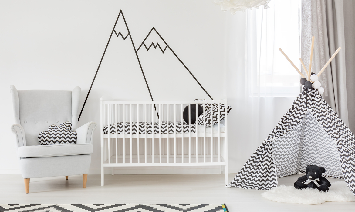 decoraco quarto bebe minimalista tenda