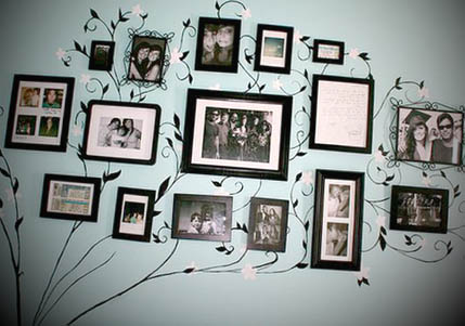 decorando com porta retratos