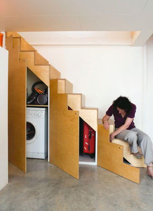 decorar baixo escadas