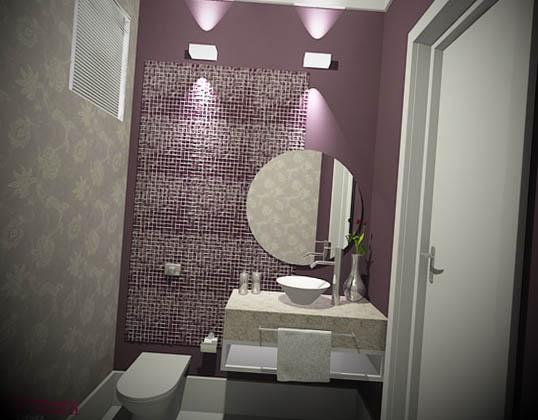 decorar lavado com papel de parede