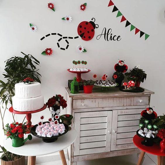 dicas de decoracao de festa infantil tema joaninha 6