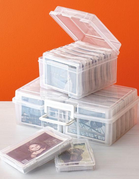 dicas organizar fotos caixa