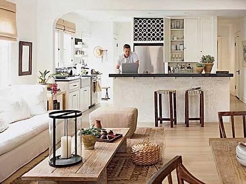 dividir sala cozinha