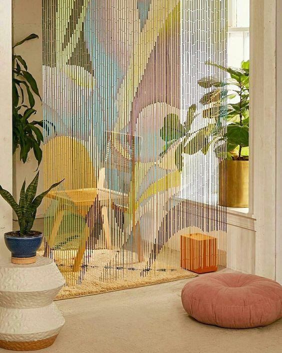 divisao ambientes cortina missanga