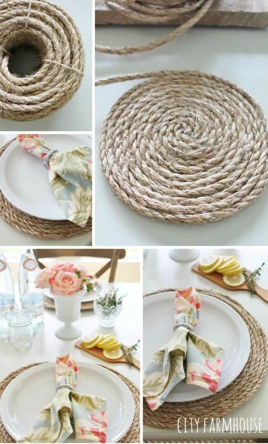 diy decoracao corda base pratos