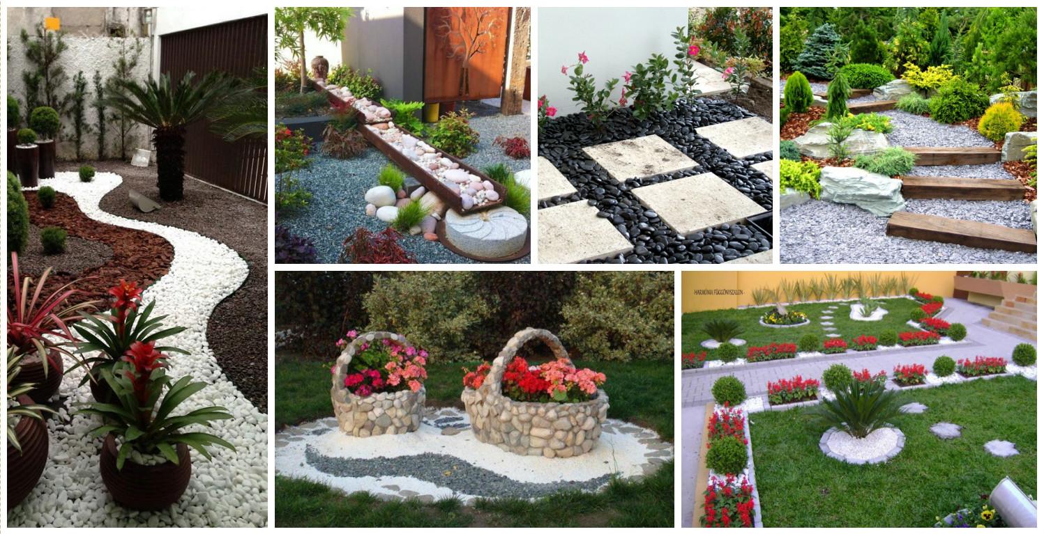 10+ Ideias Fantásticas para Decoraç u00e3o de Jardim com Pedras -> Decoração De Jardim Com Pedras Grandes