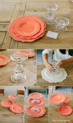 diy ideias decoração pratos base