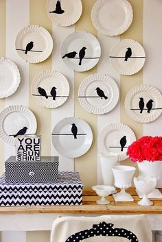 diy ideias decoração pratos