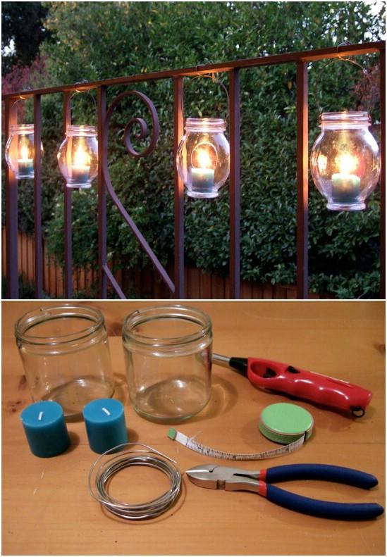 diy lanterna jardim 10