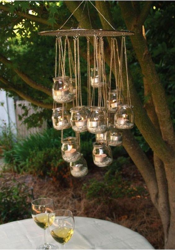 diy lanterna jardim 7