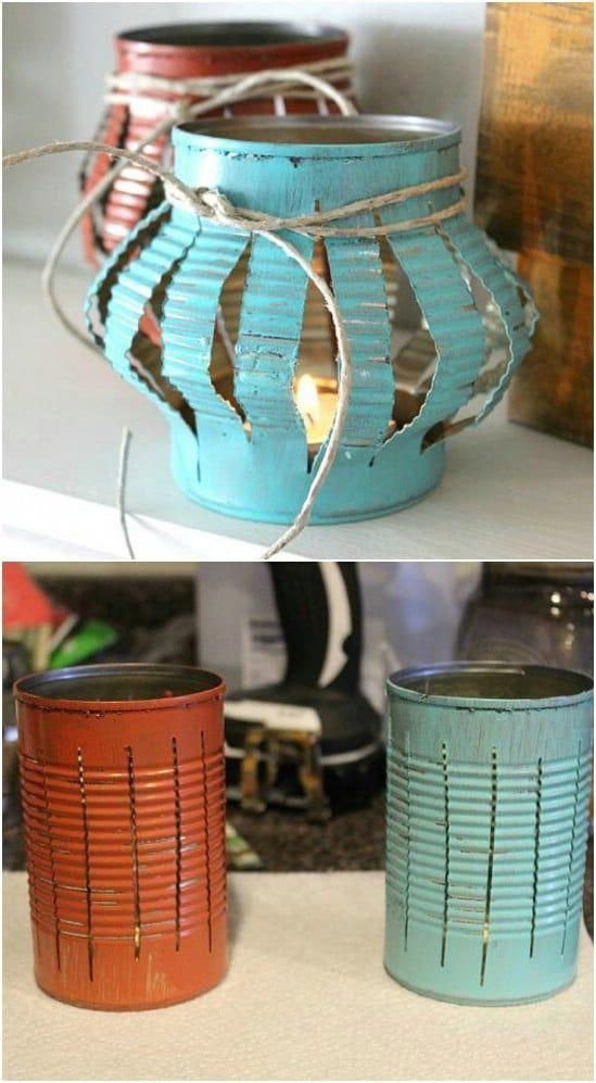 diy lanterna jardim 8