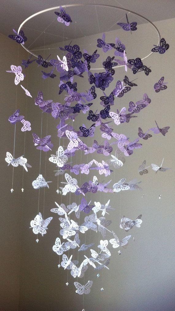 diy mobiles de borboleta