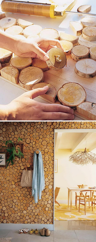 diy parede destaque madeira