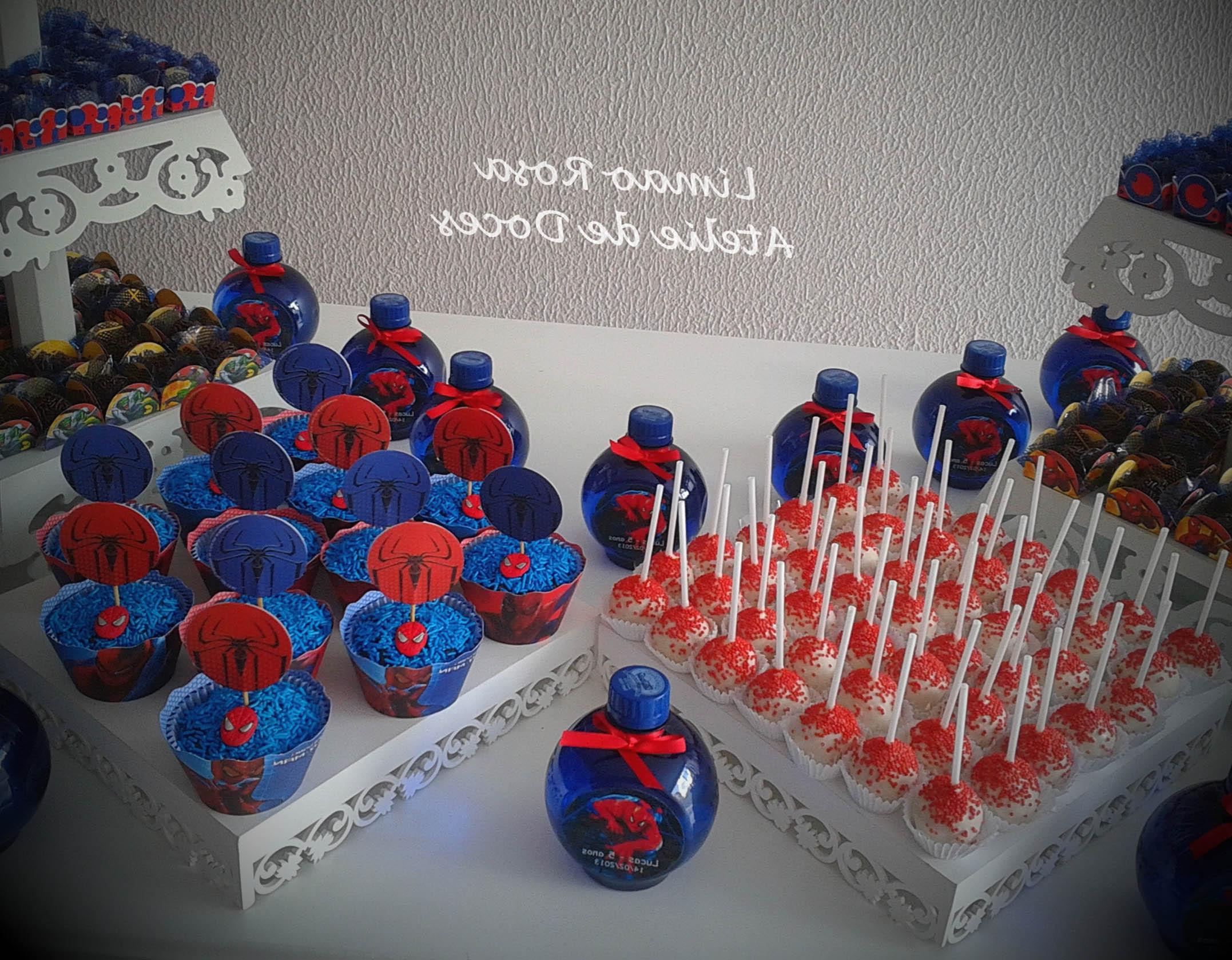 doces festa homem aranha