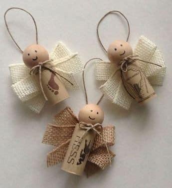 enfeite natal rolha cortiça anjo 1