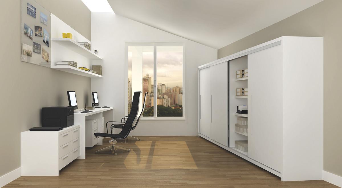 escritorio duplo em casa