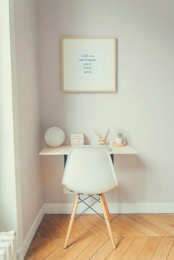 escrivaninha suspensa canto simples