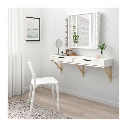 escrivaninha suspensa gaveta branca