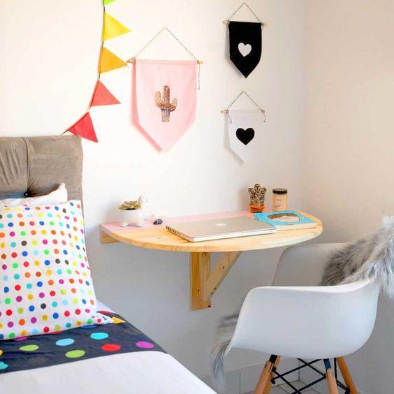 escrivaninha suspensa simples quarto
