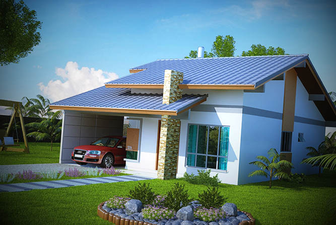 Fachadas casas pequenas for Modelos de fachadas para frentes de casas