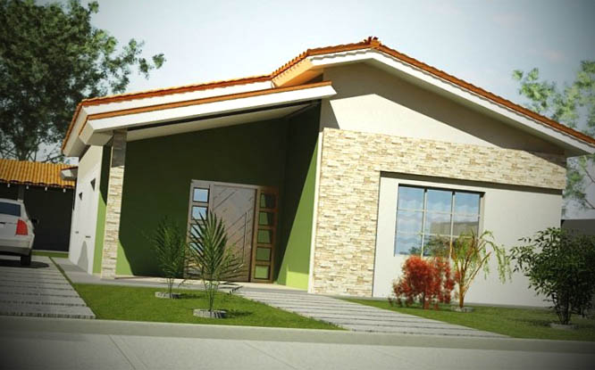 12 fachadas de casas pequenas for Modelos de fachadas de casas