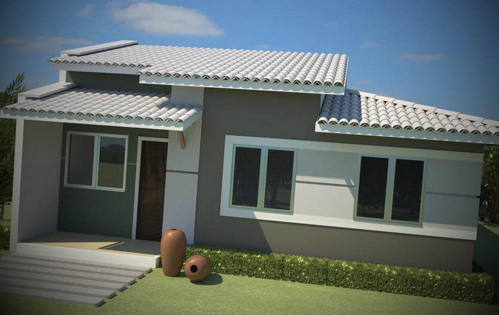 Fachadas casas pequenas for Modelo de casa pequena para construir