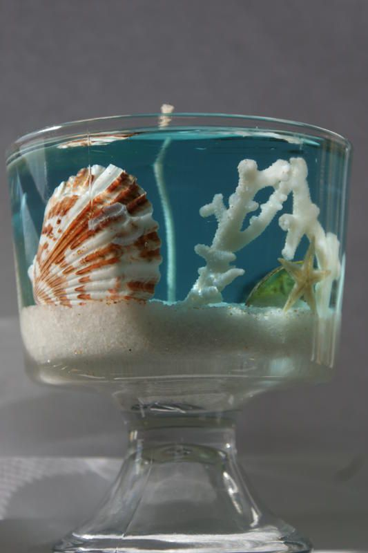 fazer vela caseira flores mar
