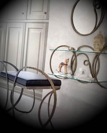 ferro forjado na decoração do quarto1