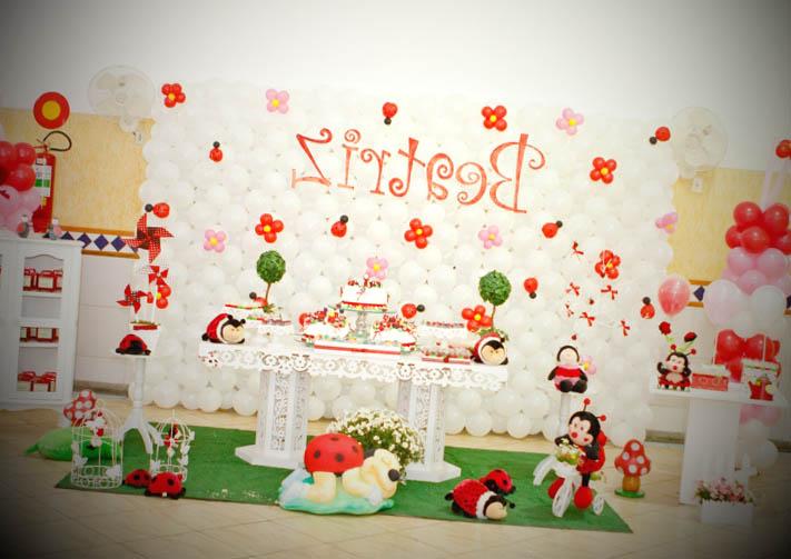 festa decorar com o tema joaninha