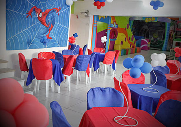 festa infantil homem aranha