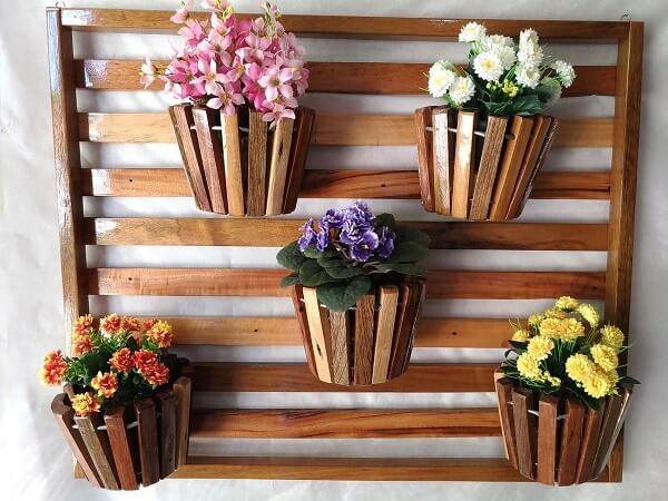floreira madeira diy criativo