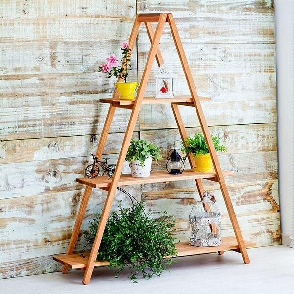 floreira madeira diy escada
