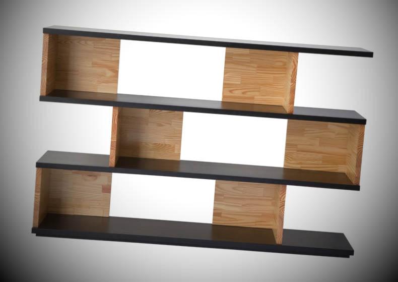 foto prateleira de madeira