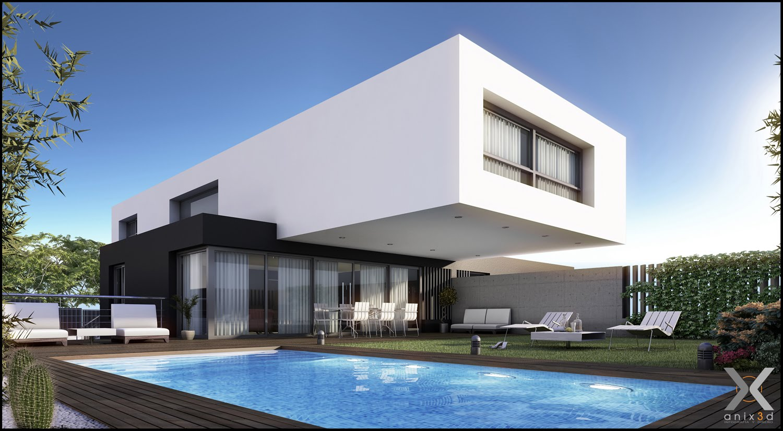 Casas modernas fachadas plantas e projetos for Modelos de fachadas modernas